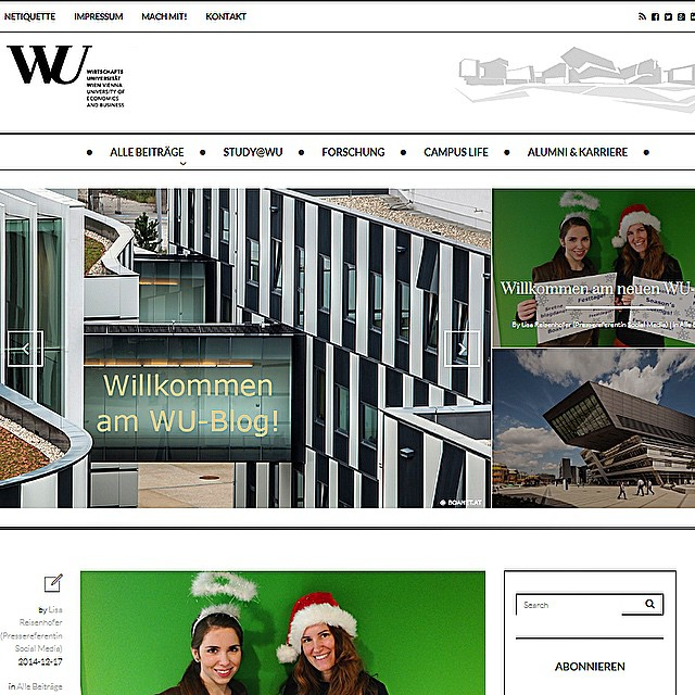 #yippie The new WU Blog is online. Join it: http://blog.wu.ac.at #welcome #new #wublog #checkitout #wuwien #wuvienna