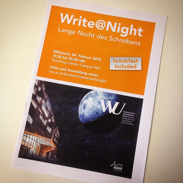 Write@Night: the first on-campus night writing session. #yoga and #breakfast included. We are already looking forward to it ? #excited #writeatnight #writingsession #support #motivation