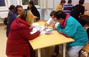 Intervieweinsatz in einer Flüchtlingseinrichtung des Fonds Soziales Wohnen im November 2015; Copyright: Zakarya Alzalak