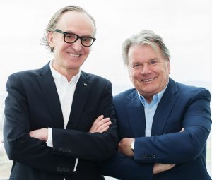 Gründer Peter Grundmann mit Investor Hans Peter Haselsteiner