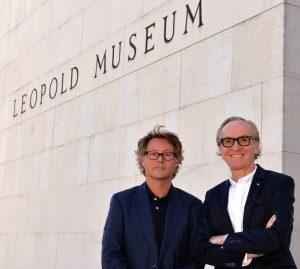Direktor des Leopold Museums, Hans Peter Wipplinger, und Hearonymus-Gründer Peter Grundmann