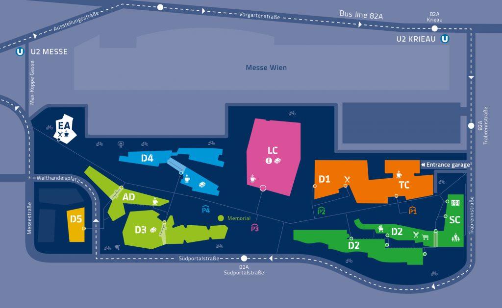 Plan des Campus WU
